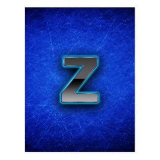 Letter Z - neon blue edition Postcard