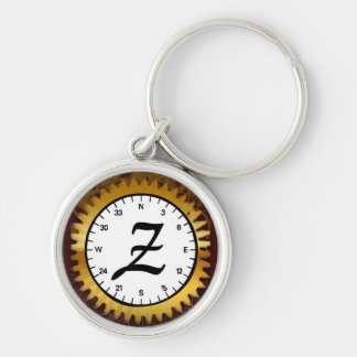 Letter Z Premium Clockwork Keychain