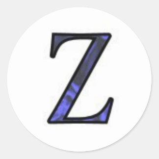 Letter Z Round Sticker
