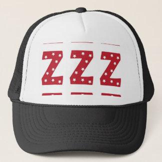 Letter Z - White Stars on Dark Red Trucker Hat