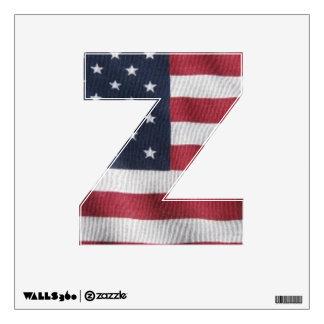 Letter Z window decal