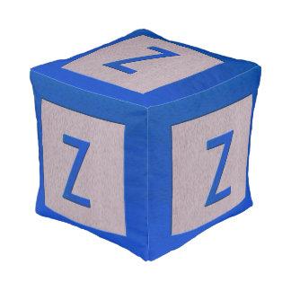 Letter Z Wood Block Kids Baby Nursery Decor Pouf