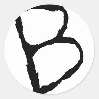 LetterB Round Stickers