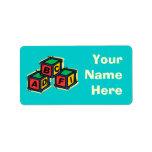 LetterBlocks Etiquetas De Dirección