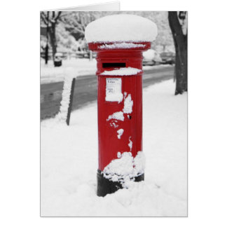 Letterbox in snow card