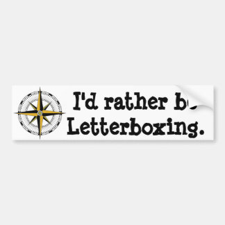 Letterboxing bastante pegatina para auto