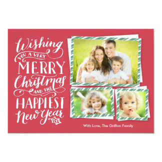 Lettered Christmas Card