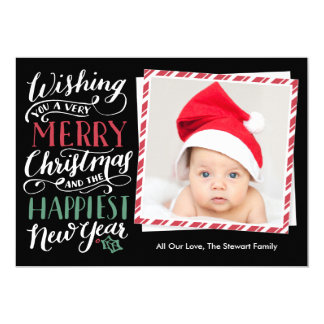 Lettered Christmas Collection 5x7 Paper Invitation Card