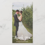 """Lettered Overlay   Wedding Thank You Photo Card<br><div class=""""desc"""">Photographs provided courtesy of &#169;Blush Photography    For more colors and styles visit our shop!</div>"""