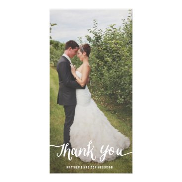 FINEandDANDY Lettered Overlay | Wedding Thank You Photo Card