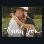"Lettered Overlay | Wedding Thank You Postcard<br><div class=""desc"">All photography is displayed as a sample only and is not for resale. This product is only intended to be purchased once sample photos are replaced with your own images.</div>"