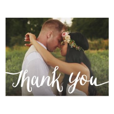 FINEandDANDY Lettered Overlay | Wedding Thank You Postcard