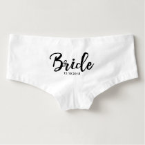 Lettered Typography | Bride Boyshorts