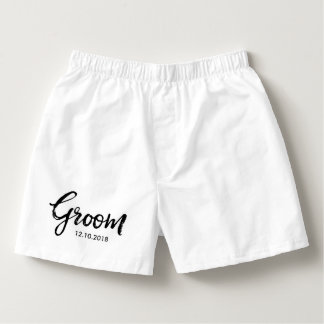 Lettered Typography | Groom Boxers