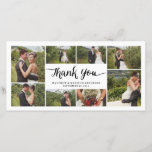 """Lettered   Wedding Thank You Photo Card<br><div class=""""desc"""">Photographs provided courtesy of &#169;Blush Photography</div>"""