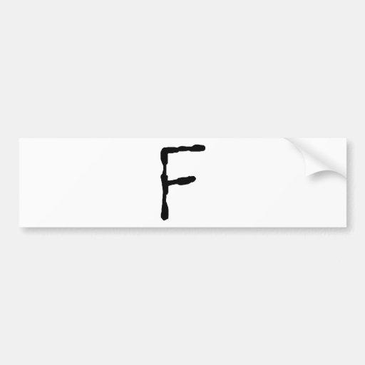 LetterF Pegatina De Parachoque