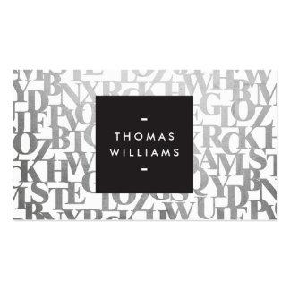 Letterforms abstracto para los autores y los tarjetas personales