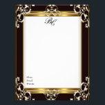 """Letterhead Elegant Black Gold Black White Elite<br><div class=""""desc"""">Letterhead Elegant Black Gold Black White Elite Monogrammed Letterhead Business Home Office Personal</div>"""