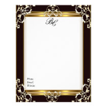 Letterhead Elegant Black Gold Black White Elite