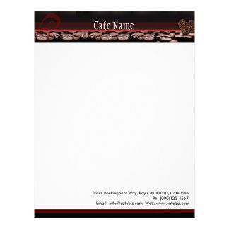 Letterhead for Cafe, Coffee Bar or Coffee Shop