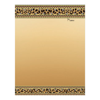 Letterhead Gold Leopard Border