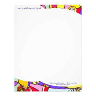 Letterhead paper with Colourful Artistic design