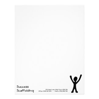 Letterhead paper with Stick Man - Customisable