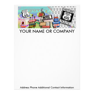 Letterhead - Route 66 The Mother Road 18SQ