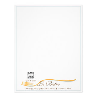 Letterhead Template Fine Dining French