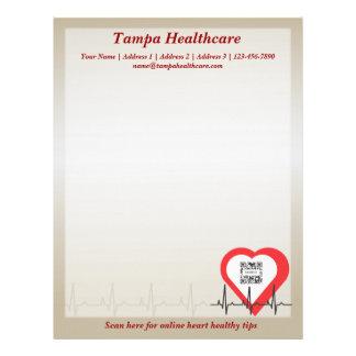 Letterhead Template Heart Health