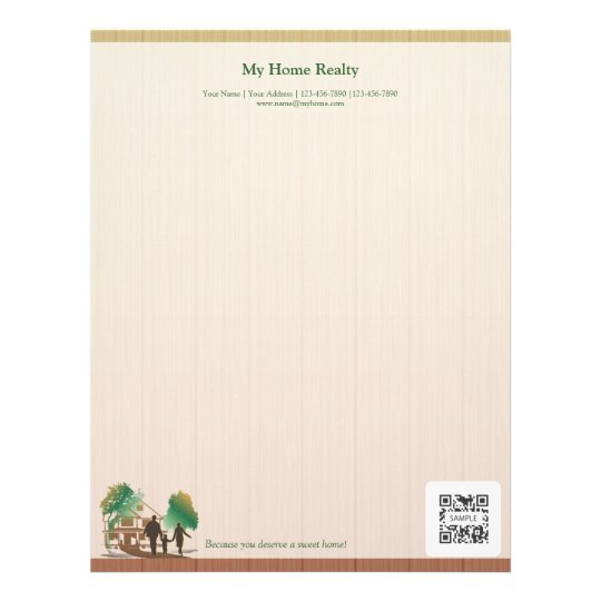 letterhead template my home realty