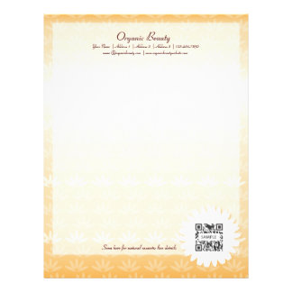 Letterhead Template Organic Beauty