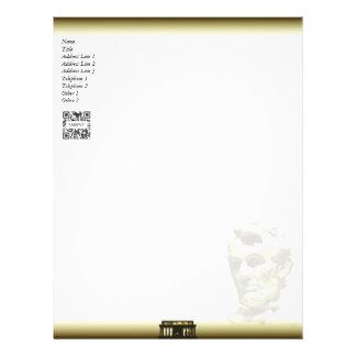 Letterhead Template President Lincoln