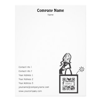 Letterhead template Shop Girl