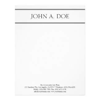 Letterhead White Silver - Matches Business Card
