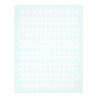 Letterhead with Checked Light Blue Background