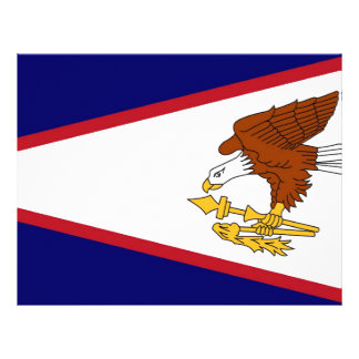 Letterhead with Flag of American Samoa