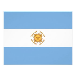 Letterhead with Flag of Argentina