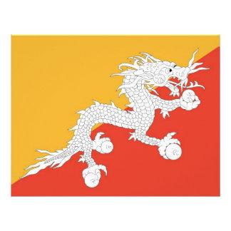 Letterhead with Flag of Bhutan