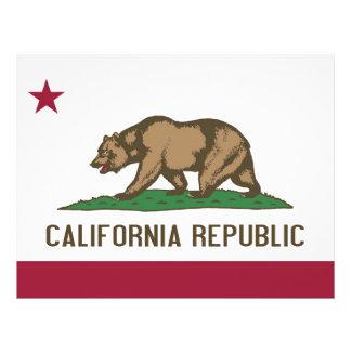 Letterhead with Flag of California, USA
