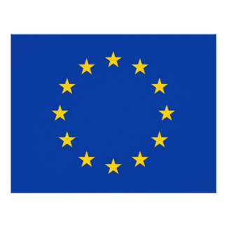 Letterhead with Flag of European Union