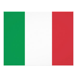 Letterhead with Flag of Italy