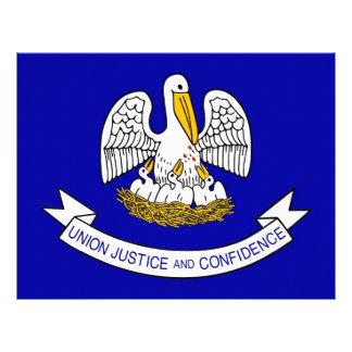 Letterhead with Flag of Louisiana, USA