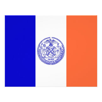Letterhead with Flag of New York, USA
