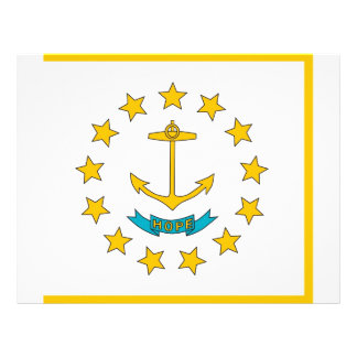 Letterhead with Flag of Rhode Island, USA
