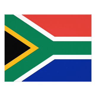 Letterhead with Flag of South Africa