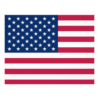 Letterhead with Flag of United States of America