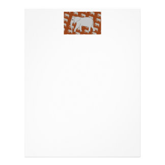 Letterhead with folksy Elephant Design