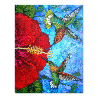 Letterhead With Hummingbirds Painting