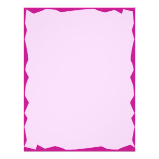 Letterhead with Jagged Magenta Border